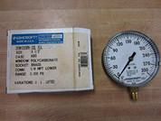 """Ashcroft 35W1005PH02LXUL300 """"3.5"""""""" 1/4""""""""LWR 0/300# FIRE PRTEC"""" 35W1005PH02LXUL300"""