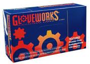 M Gloveworks Powder Free Textured Latex Gloves AMXTLF44100