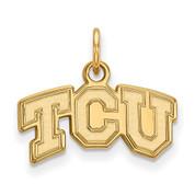 LogoArt GP001TCU Sterling Silver w/GP Texas Christian University XS Pendant.