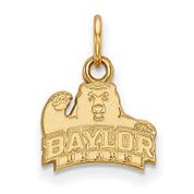 LogoArt GP001BU Sterling Silver w/GP Baylor University XS Pendant
