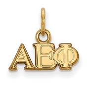 LogoArt GP001AEP Sterling Silver w/GP Alpha Epsilon Phi XS Pendant