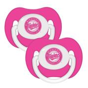 2 Pack Pink Pacifiers - Minnesota Twins Minnesota Twins BFBBMINPP BFBBMINPP