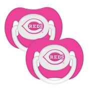 2 Pack Pink Pacifiers - Cincinnati Reds Cincinnati Reds BFBBCINPP BFBBCINPP