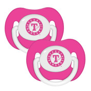 2 Pack Pink Pacifiers - Texas Rangers Texas Rangers BFBBTEXPP BFBBTEXPP