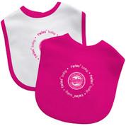 2 Pack Pink Baby Fanatic Bib -Minnesota Twins BFBBMINBB2P