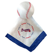 Baby Fanatic BFBBATLSBB Security Baseball Blanket, Atlanta Braves.