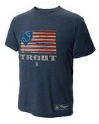 108 Stitches, LLC  108 Stitches Mike Trout Flag T-Shirt X-Large 108BB2163640607