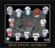 Evolution of The Team Uniform Framed Photograph - MLB - Houston Astros Houston Astros EUBBHOUF EUBBHOUF