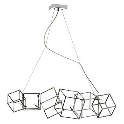 6 Light Multi Cube Low Voltage Horizontal Pendant,Polished
