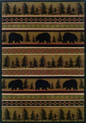 "Hudson Collection Woven Rug (#1066A) 1'10 X 3'3 HUDSON 1066A BROWN 1'10"" X 3'3"" RECTANGLE"