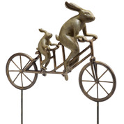 33862 Tandem Bicycle Bunnies Garden ALUMINUM IRON  33862