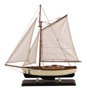 1930's Classic Yacht - Small - Antique Finished Stand Included - Authentic Models AS134 AS134