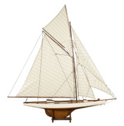 Authentic Models America's Cup Columbia 1901, Medium, French Finish - Detailed Wooden Nautical Ships and Boats Models, Sailboats and Yachts - 45.1 x 7.1 x 46.7 in AS076F AS076F