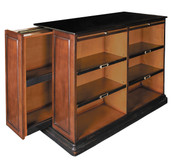 Alchemist's Bookcase - Features Solid Wood Construction in Honey and Black Finish - Includes 2 Hidden Side Panels - Authentic Models MF116 MF116
