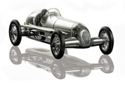 12.25 in. Length - Silberpfeil - 1930s Indy Racer Replica - Silver - Authentic Models PC014 PC014