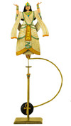 Aida Sky Hook - Metal Balance Toy - Features Hand-Painted Woman on Recycled Metal Stand - Authentic TM123
