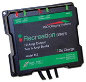 Dual Pro 6033018 Recreat Series Dual Output Charger 2-6 AMP Bank
