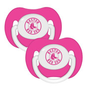 Baby Fanatic BFBBBOSPP 2 Pack Pink Pacifiers - Boston Red Sox Boston Red Sox