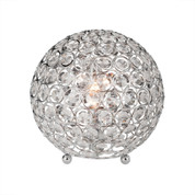Elegant Designs Crystal Ball Table Lamp LT1026-CHR