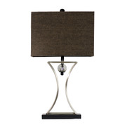 Elegant Designs Chrome and Black Conference Room Hourglass Shape with Pendulum Table Lamp  LT2001-CHR