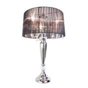 Elegant Designs Trendy Sheer Black Shade Table Lamp with Hanging Crystals LT1034-BLK