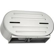 """ASI® Surface Mounted Twin 9"""" Jumbo Roll Toilet Tissue Dispenser - 0040"""