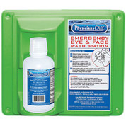 PhysiciansCare® Wall Mount Eye Flush Station, Single, 16 Oz. Bottle, 24-000