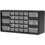 "Akro-Mils Plastic Drawer Parts Cabinet 10126 - 20""W x 6-3/8""D x 10-1/4""H, Black, 26 Drawers"