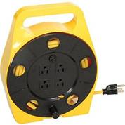 Bayco® Quad Plug Cord Reel SL-755, 16/3 GA, 25'L Cord, Yellow
