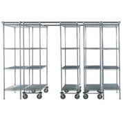 "Global Industrial 795985 SPAC TRAC 5 Unit Storage Shelving Chrome 48""W x 21""D x 86""H - 12 ft."