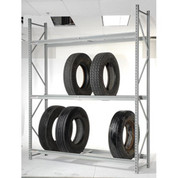 "Global Industrial 795817 Truck Tire Rack 3 Tier Starter 96""W x 24""D x 120""H"