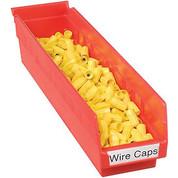 """Akro-Mils Plastic Shelf Bin Nestable 30128 - 4-1/8""""W x 17-7/8""""D x 4""""H Red"""