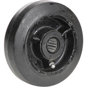 "5"" x 1-1/2"" Mold-On Rubber Wheel - Axle Size 3/4"""