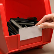 """Aigner TR-1300 Tri-Dex Label Holder 1"""" x 3"""" for Stacking Bin Price per Pack of 25"""