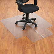 "Aleco® Office Chair Mat for Hard Floor - 45""W x 53""L with 25"" x 12"" Lip - Straight Edge"