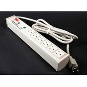Wiremold M6BZ-15-I 6 Outlet Power Strip and Surge Protector with 15-ft Cord