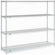 "63""H Nexel Chrome Wire Shelving - 60""W X 14""D"
