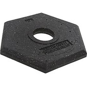 Cortina Safety Products B566941 Rubber Delineator Base, 15 lb. Replacement Base