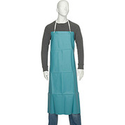"San Jamar 614DVA20-GN - Vinyl Apron, 36"" x 45"", Extra Long Braided Ties, Green, No Pockets"