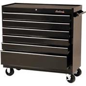 """Blackhawk 94106R 41"""" Roller Cabinet, 6 Drawer, Black"""