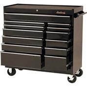"""Blackhawk 94113R 41"""" Roller Cabinet, 13 Drawer, Black"""