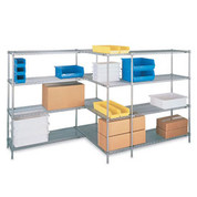 "Metro Open-Wire Shelving - 48x18x74"" - Starter Units"