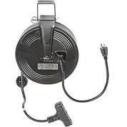 Bayco&#174 SL-801 Triple Tap Extension Cord, Retractable Reel, 30'L Cord, 14/3 GA, BLK