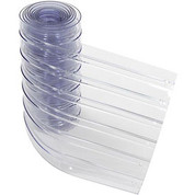 """TMI, LLC 786CP18 Replacement 12"""" x 10' Scratch Resistant Ribbed Clear Strip for Strip Curtains"""