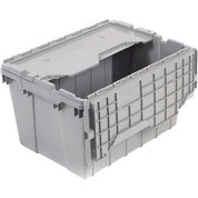 "Akro-Mils Attached Lid Container 39170GREY - 21-1/2""L x 15'W x 17""H"