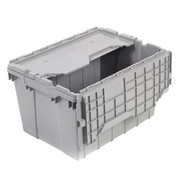 "Akro-Mils Attached Lid Container 39120GREY - 21-1/2""L x 15""W x 12-1/2""H"