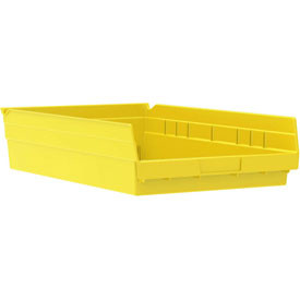 Akro-Mils 30124 24-Inch by 4-Inch by 4-Inch Plastic Nesting Shelf Bin Box Red Case of 12