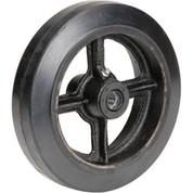 "8"" x 2"" Mold-On Rubber Wheel - Axle Size 5/8"""