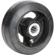 "5"" x 2"" Mold-On Rubber Wheel - Axle Size 5/8"""