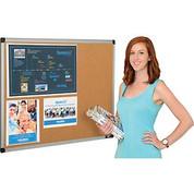 Bi-Silque Visual Communication Products Inc CA031170 Cork Bulletin Board - 36 x 24 - Aluminum Frame